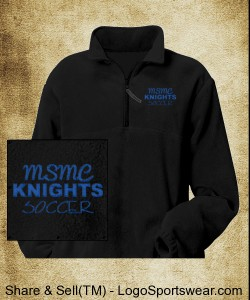 Adult Polar Fleece Quarter Zip Pullover Design Zoom